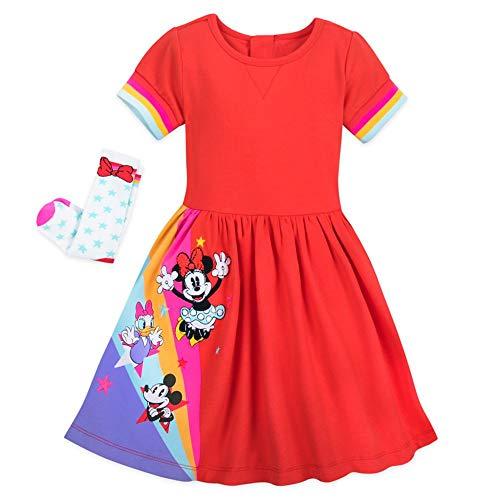 Disney Mickey Mouse and Friends Set de vestido para niñas - - 5 años