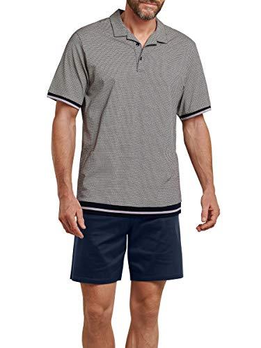 Schiesser Schlafanzug kurz 166141, dunkelblau, 50