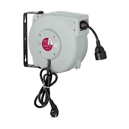 MAXTOOLS ER300, Enrollador Eléctrico, Enrollador con Guía Doble y Cable Resistente al...