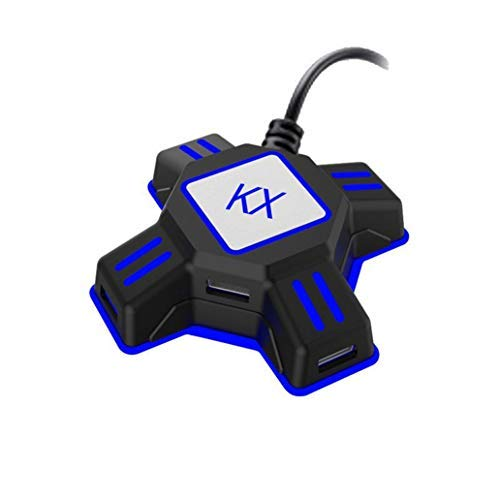 scgtpapadc KX USB Game Controller Converter Keyboard Mouse Adapter for Switch/Xbox/PS4/PS3 - Black
