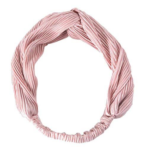 Femmes Bandeaux Criss Cross Élastique Head Wrap Retro Flanelle Filles Hairband Décorations Festives 1pc