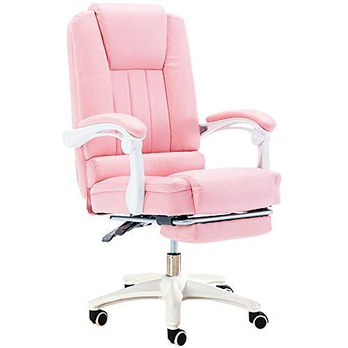 Ybzbx Pc Gaming Stuhl Fu?stütze Spiel E-Sport PU Leder Komfortabel Hebe Rotary Computer Nylon Sitz Für Spielpause
