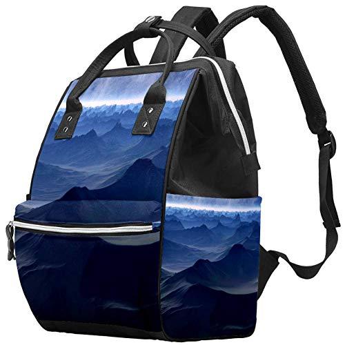 Grand sac à langer multifonction pour bébé avec bouteille d'eau isotherme pour maman et papa, Planet Sience Fiction Fantasy World