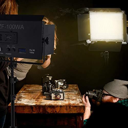 3200K- 5700K Iluminación ajustable para fotografía Montaje en negro DC 17V o(European standard AC100-240V)