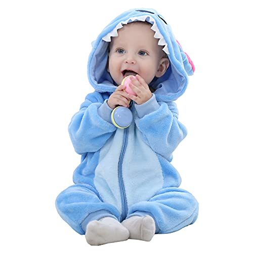 Ensemble Unisexe BéBé Cute Animal Barboteuse GrenouillèRes Combinaison Pyjama avec Fermeture éClair 0-24 Mois (100cm(18-24months), Point)