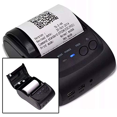 Mini Impressora Portatil Sem Fio Termica 58mm Android Ios Linux Bluetooth APP Qr Code