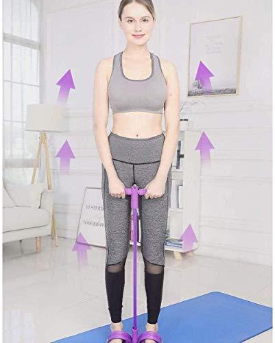 CLI Gummiband Sportausrüstung Bauchkernkraft Muskeltraining Fußpedal Expander Sit-up-Trainingsausrüstung Bauchtrainer Bodybuilding Band