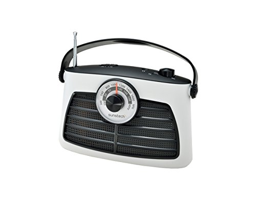 Sunstech RPS660WT - Radio de sobremesa analógico (AM, FM + altavoz de 1 W RMS)