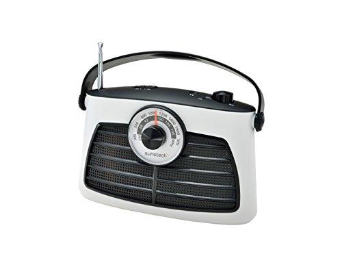 Sunstech RPS660WT - Radio de sobremesa analógico (AM, FM +