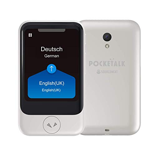 POCKETALK S  Traductor de voz camara Blanco - Dispositivo portátil de traducción bidireccional - Datos moviles incorporados (eSIM)