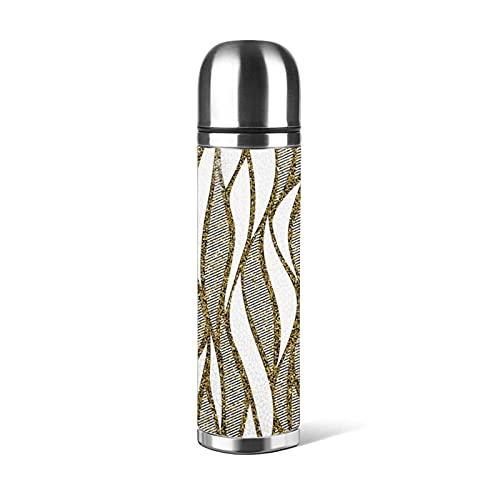Borraccia in acciaio inossidabile con motivo a onde senza soluzione di continuità, Thermos Cup Vacuum Cup Thermos Flask Tazza da caffè Tazze da viaggio 500 ML