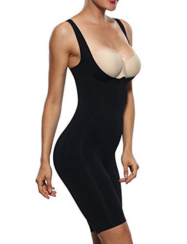 Franato Women's Shapewear Bodysuits Tummy Control Slimmer Body Shaper Black