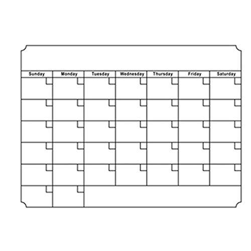 OMMO LEBEINDR 1 Pc Borrado En Seco Mensual Calendario Establecer Calendarios Magnéticos De La Tarjeta Blanca Frigorífico Reutilizable Semanal Cocina Nevera Plannerfor Todo El Mundo