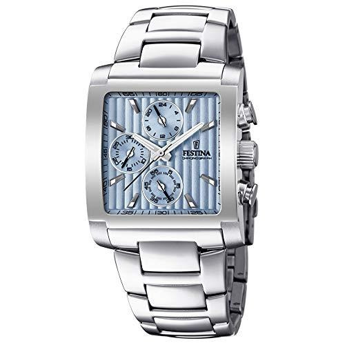 Festina Herren Chronograph Quarz Uhr mit Edelstahl Armband F20423/1