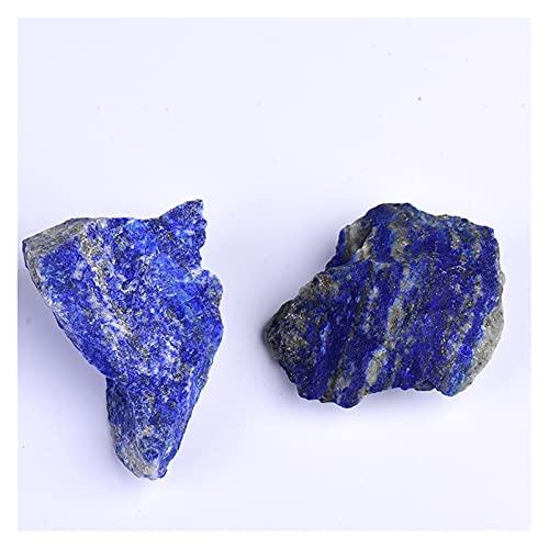 JSJJPLM Piedra de Cristal Natural 50 g de Cristal Natural Cuarzo Minerales Espécimen Lazurite Cuarzo Forma Irregular Roca áspera Piedra Curación de Piedra Aquario Decoración del hogar