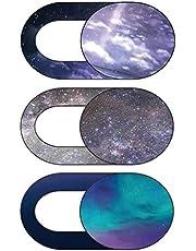 SOLUSTRE 3 Adet Kamera Kapağı Kaydırıcı Engelleyici Yıldızlı Gökyüzü Bilgisayar Dizüstü Bilgisayar Tablet Web Kamerası Kapağı