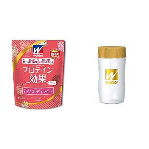 【セット買い】ウイダー プロテイン効果 ソイカカオ味 660g + Amazon.co.jp限定 プロテインシェーカー (ゴールド)