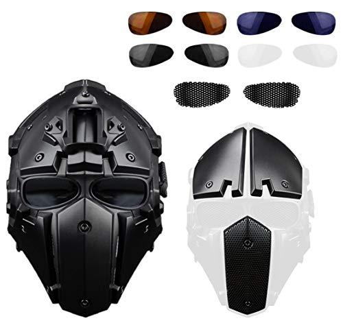 Vollgesichtsschutz Obsidian Grün GOBL Terminator Helm & Mask Goggle für Jagd Paintball Military Co splay Film Prop-BK