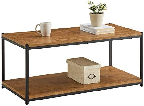 Best Tall Center Table Coffee Table by CAFFOZ Furniture Designs | Storage Shelf | Sturdy | Easy Assembly