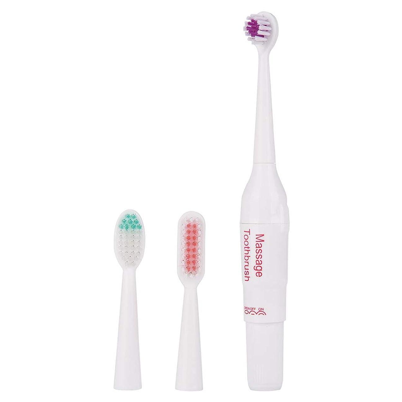 キャロラインオアシス彼らのもの電動歯ブラシ ポータブル 歯ブラシ 替えブラシ2本入り 歯磨き 携帯便利 旅行 出張 に最適