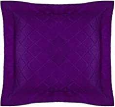 Floor Cushion Cover Quilted Decorative X Large Bed Throw Pillowcase Purple Polyester with Flange Removable Cover, Insert n...