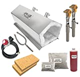 Mr Volcano Hero 2 - Portable Propane Forge (Complete Kit) MADE IN USA (Stainless Steel) for Professionals Artists Hobbyists Knife Making Tool Making Farrier Blacksmith