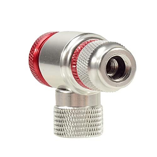CO2 INFLADOR CABEZA PARA BICIQUES TIRE LA PRESTA Y SCHRADER Válvula de plata de la válvula de la bicicleta compatible con la aleación de aluminio