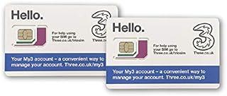 Three UK SIMカード お得な2枚セット ヨーロッパ用9GB ヨーロッパ、アジア、アメリカ使用可能 ヨーロッパ内のみ3000分通話・3000SMS付き