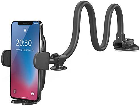 Windshield Car Phone Mount OQTIQ Upgraded 13 Inches Long Arm Gooseneck Cell Phone Holder for product image