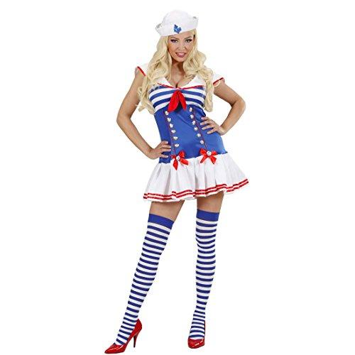 Disfraz de marinero para mujer disfraz marinero traje azul y azul-Blanco Sexy de las mujeres del vestido de uniforme de marinero Matrosinnen mujer Seefrau un marinero fiesta traje de combate de las mujeres