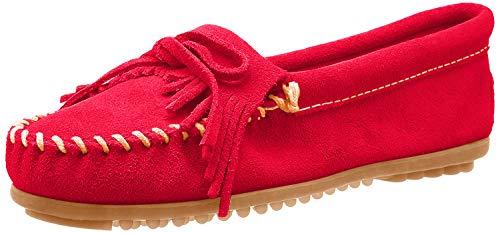 Minnetonka Kilty Damen-Mokassins, Rot - rot - Größe: 37.5