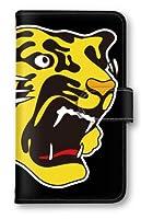 【ノーブランド品】 Xperia Z5 SOV32 阪神タイガース スマホケース 手帳型 携帯カバー 公認グッズ タイガースロゴ ブラック SOV32 ケース