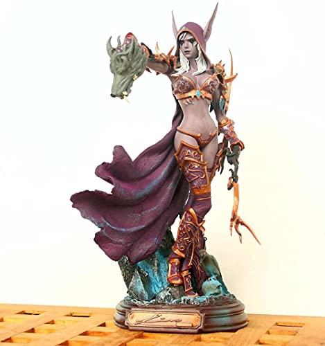 Modelo de Personaje de Juguete Hecho a ma World of Warcraft Sylvanas Untotead Queen Estatua decoración de Oficina en casa