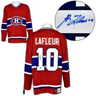 Guy Lafleur Montreal Canadiens Autographed Signed Fanatics Vintage Hockey Jersey