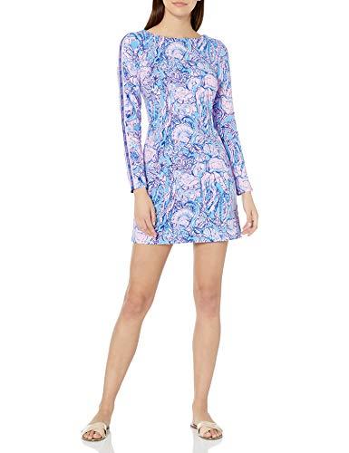 Lilly Pulitzer Women's BELINE Dress, Lapis Lazuli Horseshoe Bay, XX-Small