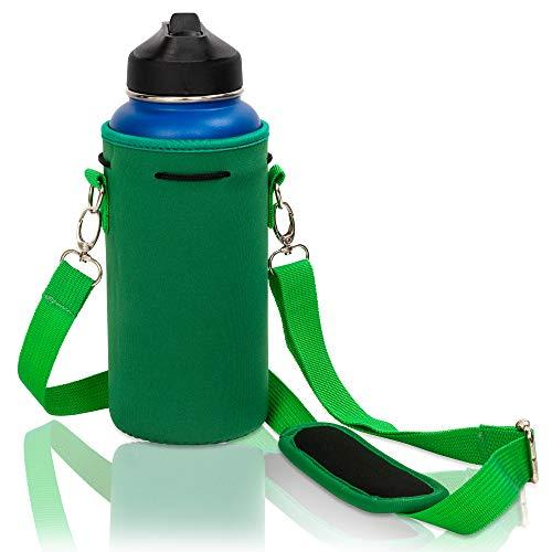 Made Easy Kit Bolsa de neopreno para botella de agua con correa ajustable para el hombro, perfecto para transportar botellas de agua de acero inoxidable, botellas de agua, botella...