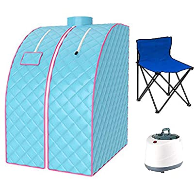 AnMoreH Portable Steam Sauna Spa, 2L Personal Sauna for Relaxation Home Sauna Spa Tent with Remote Control, Foldable Chair, Timer