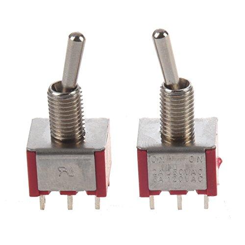 Kaxofang 2 x Interruptor de Palanca ON/ON 2 Posicion Bipolar Doble Tiro