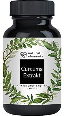 Curcuma Extrakt Kapseln - Vergleichssieger 2020* - Curcumingehalt EINER Kapsel entspricht dem von ca. 10.000mg Kurkuma - Hochdosiert aus 95% Extrakt - Laborgeprüft