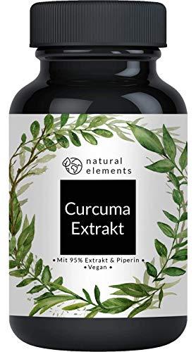 Curcuma Extrakt Kapseln - Curcumingehalt EINER Kapsel entspricht dem von ca. 10.000mg Kurkuma - Hochdosiert aus 95{7dd25dfadbfc48e8c20e35cdbd44c89413321c01f2a19ed8653545b3e10caddf} Extrakt - Laborgeprüft