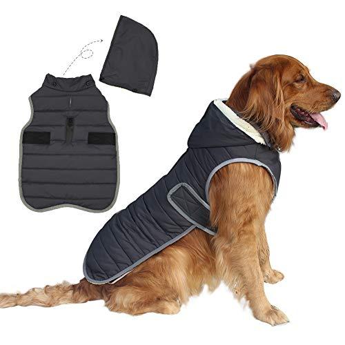EMUST Dog Winter Coats, Fleece Dog Coats for Small Dogs Winter, Waterproof Windproof Warm Dog Winter Jacket for Small Dog Coats for Winter, XS