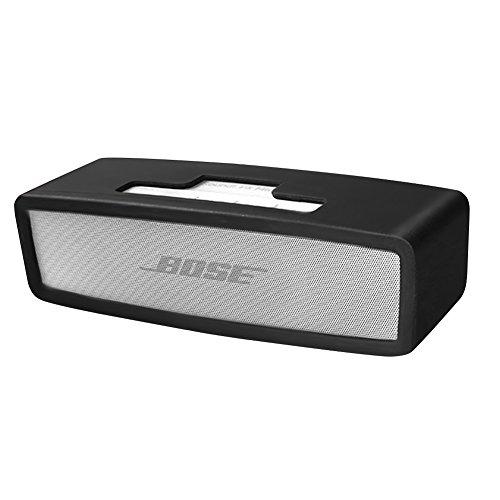 Soundlink Mini Funda, Silicona portátiles portátiles de protección bolsa caso para Bose SoundLink Mini I / II Altavoz Bluetooth (Negro)