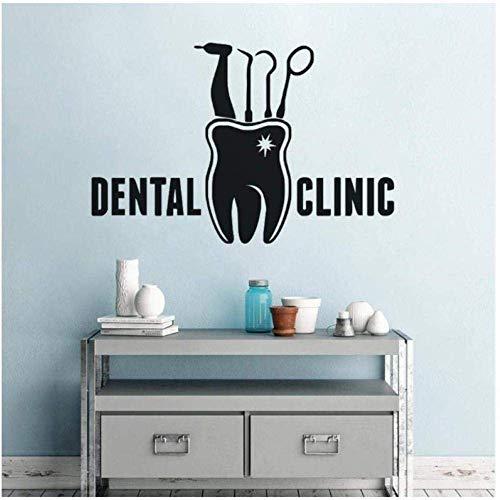 Muursticker Muursticker Vinyl Dental Clinic Teeth Gereedschap Patroon Muurschilderingen Tandarts Shop Vensterdeur Art 42X28Cm