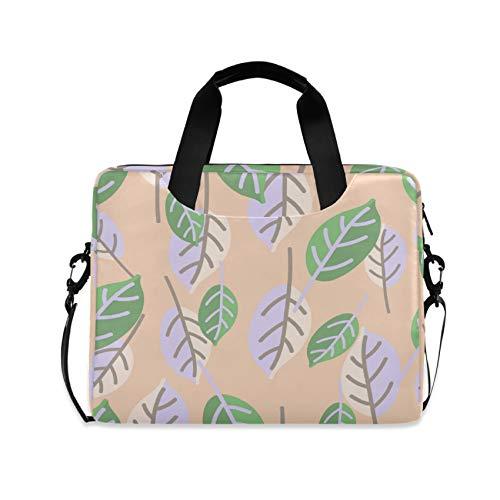 Leaves Pattern 16 inch Laptop Shoulder Bag Travel Laptop Briefcase Carrying Messenger Bags