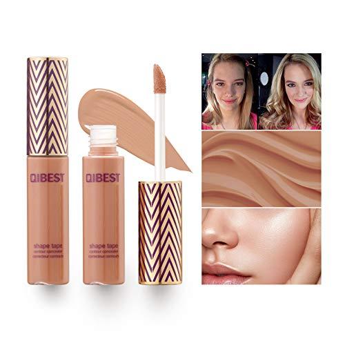 Mimore Liquid Concealer Makeup Copertura totale, Contorni, Mette in evidenza,Correttore colore brillante 24HR, Correttore di bellezza impermeabile a prova di sudore - 3 colori (05#CHAI)