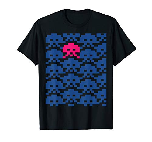Space Invaders T-shirt for Adult, Child, 4 Colors, S to 3XL