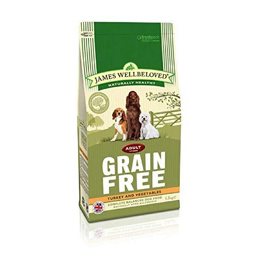 James Wellbeloved Dog Food Grain Free Turkey and Veg Adult (1.5kg)