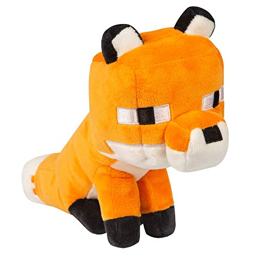 JINX 10495 Minecraft Happy Explorer Fox Plüsch, 14 cm hoch