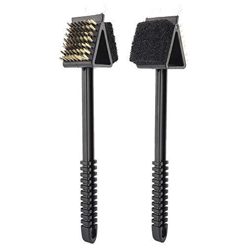 Cepillo de parrilla de plástico multifunción de 35,5 x 7,5 x 7 cm, acero inoxidable