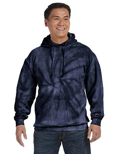 Tie-Dyed Tie-Dye 8.5 Oz Pullover Hood, XL, Spider Navy